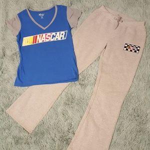 Women's medium NASCAR logo pajama set